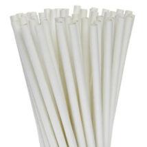 Bio lebomló, komposztálódó szívószál, növényi műanyagból készült (fehér 500db/cs 6,5 mm)