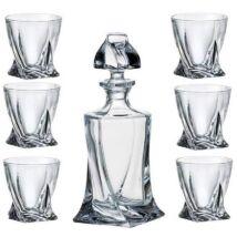 Bohémia kristály whisky set 7 részes exkluzív, dobozban.