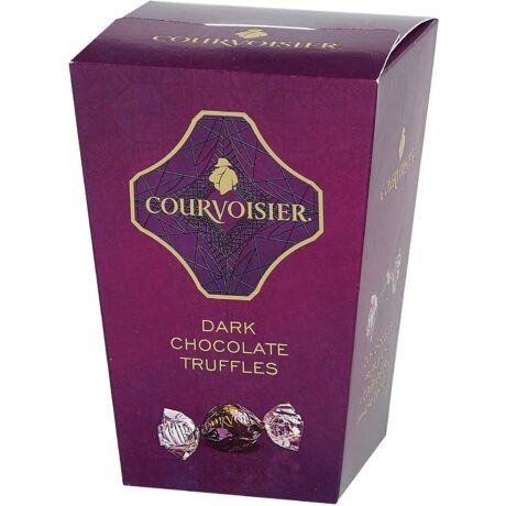 Courvoisier cognac ízesítésű trüffelkrémmel töltött csokoládé golyók - Papír díszdoboz (130 gr)
