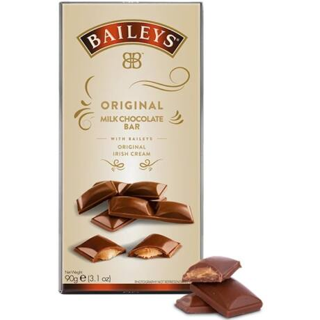 Baileys Bar - Baileys likőrös trüffelkrémmel töltött tejcsokoládé tábla (90 gr)