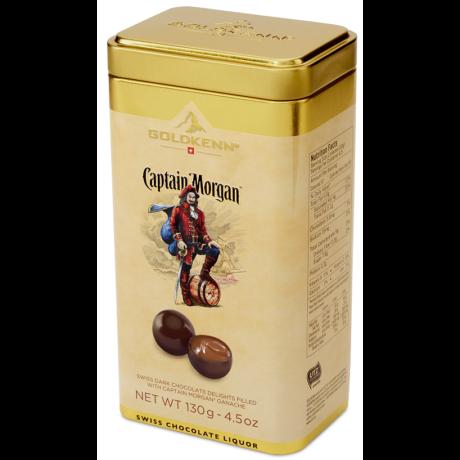 Captain Morgan rummal töltött csokoládé golyók, fém díszdobozban - 130 gr