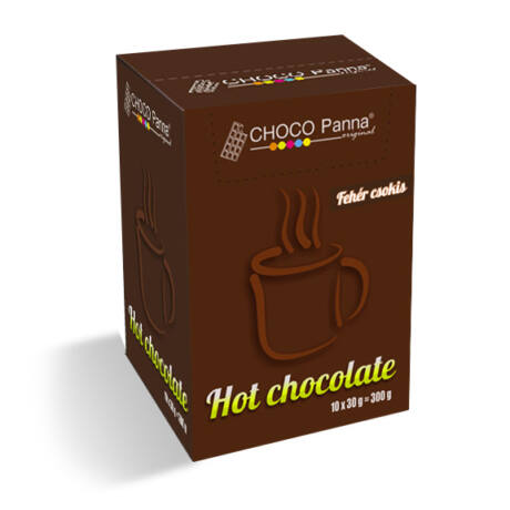 Choco Panna fehér forró csokoládé (White chocolate) 10 x 30g / doboz