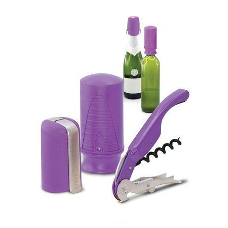 Pulltex Boros és pezsgős nyitó, záró készlet (lila)