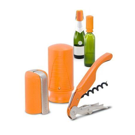 Pulltex Boros és pezsgős nyitó, záró készlet (narancs)