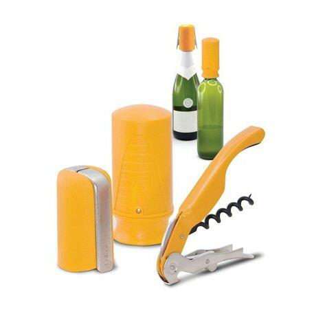 Pulltex Boros és pezsgős nyitó, záró készlet (sárga)
