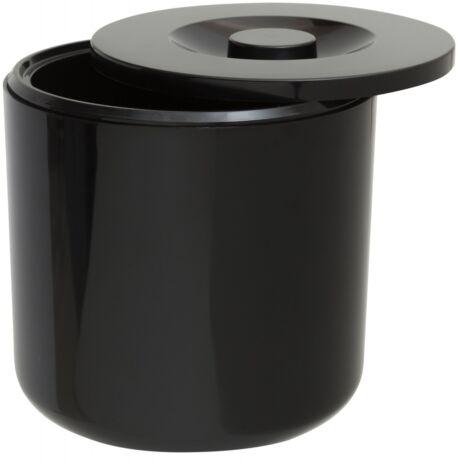 Dupla falú fekete round jégvödör 4,5 literes