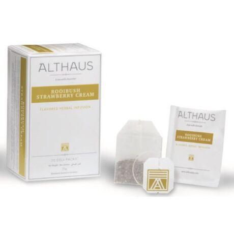 Tea Althaus Rooibush strawberry cream deli pack 20 filter