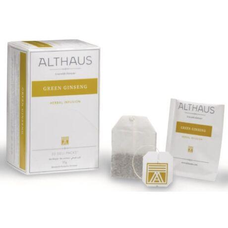 Tea Althaus Green Ginseng deli pack 20 filter