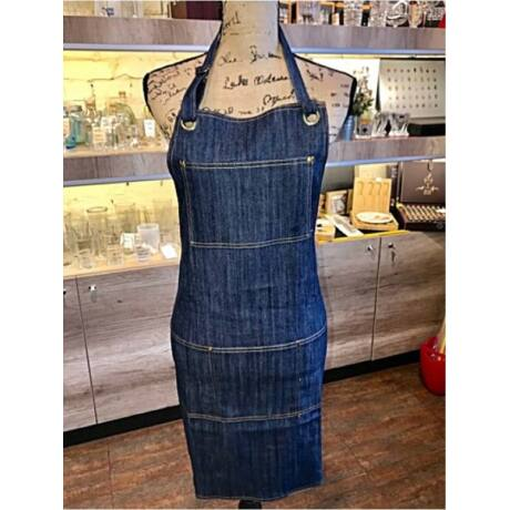 Kék farmer kötény A1