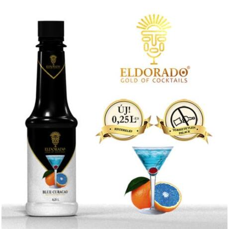Kis Üveges Eldorado blue curacao szirup 0,25