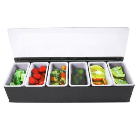 Műanyag gyümölcstartó - 6 fakk
