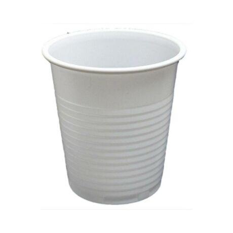 Fehér műanyag pohár - 100ml (100db/cs)