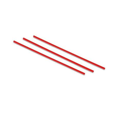 Extra vékony áttetsző piros szívószál - 5mm (500db/cs)