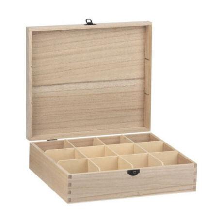 Teafilter tartó doboz 12 fakkos