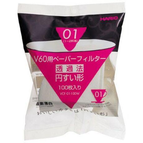 Hario V60 papírfilter (01) 100 db/csomag