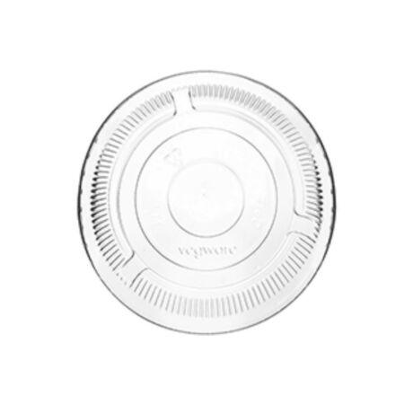 Lapostető PLA biológiailag lebomló, komposztálódó öko feliratos pohárhoz szívószál nyílással - 50db/csomag