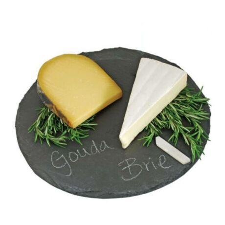 Kerek rusztikus sajt tálaló, pala deszka