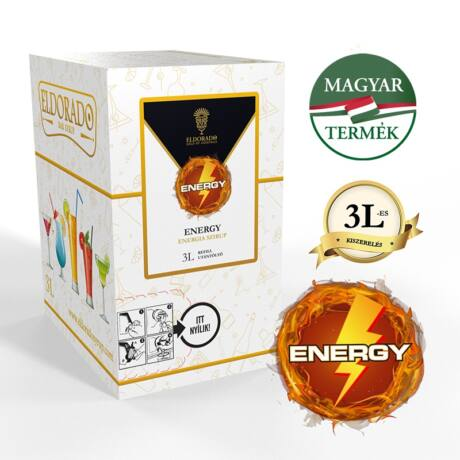 Bag in Box Eldorado energy szirup 3 liter