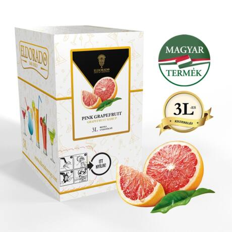 Bag in Box Eldorado grapefruit szirup 3 liter