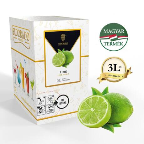 Bag in Box Eldorado lime szirup 3 liter