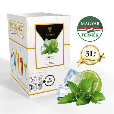 Bag in Box Eldorado mojito szirup 3 liter