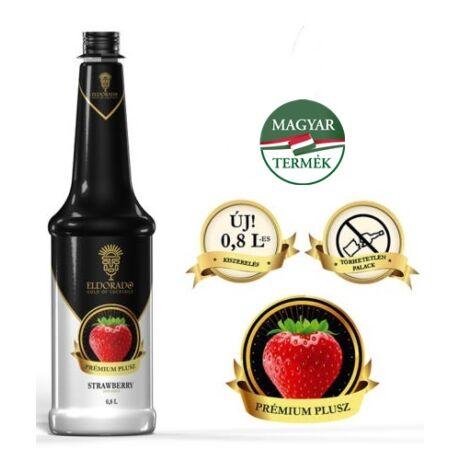 Gluténmentes Eldorado Eper plusz szirup 60% gyümölcs tartalommal 0,8 L