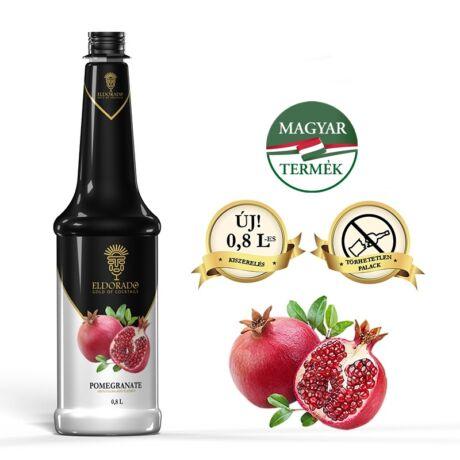 Gluténmentes Eldorado Gránátalma (pomegranate) szirup 0,8 L (most ajándék kiöntő dugóval)