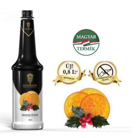 Gluténmentes Eldorado puncs narancs szirup 0,8 (most ajándék kiöntő dugóval)