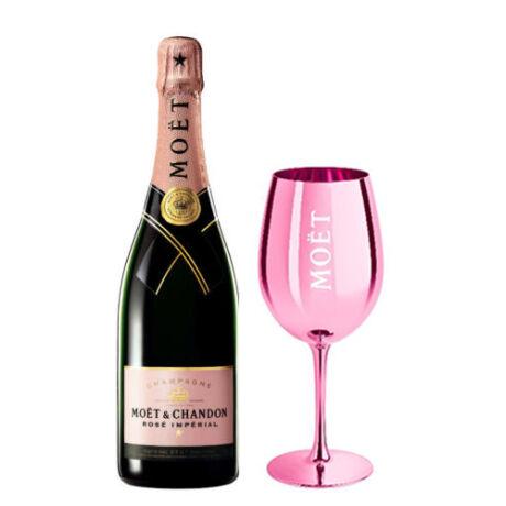 Moet & Chandon Rosé Imperial Champagne 0,75L (12%) + ajándék pohár