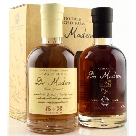Dos Maderas Rum Szett - 2x0,2L papír díszdobozban