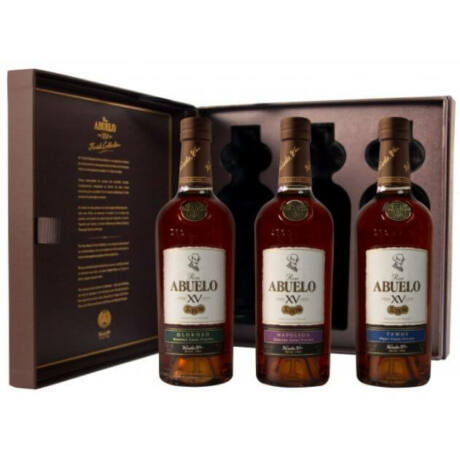 Abuelo XV Rum Szett - 3x0,2L - díszdobozban (40%)