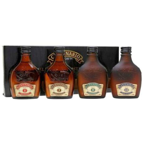 Centenario Rum Szett (4*0,2) 5/7/9/12 éves - papír díszdobozban