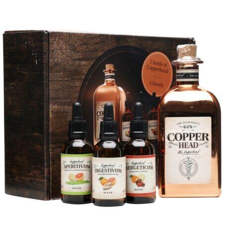 Copperhead Gin 500ml 40% szett díszdobozban