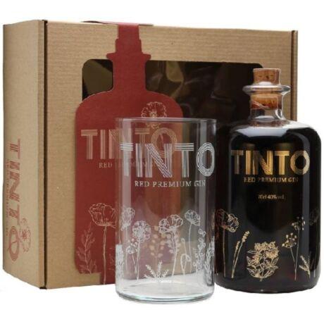 Tinto Red Premium Gin 40% pdd.+ pohár 0,7