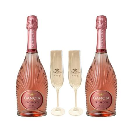 Gancia Prosecco Rosé 0,75L 11% csomag 2 ajándék pohárral