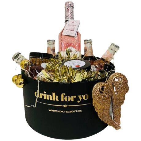 Karácsonyi Bloom Jasmine Gin&Tonik Ajándék Szett Fekete Díszdobozban