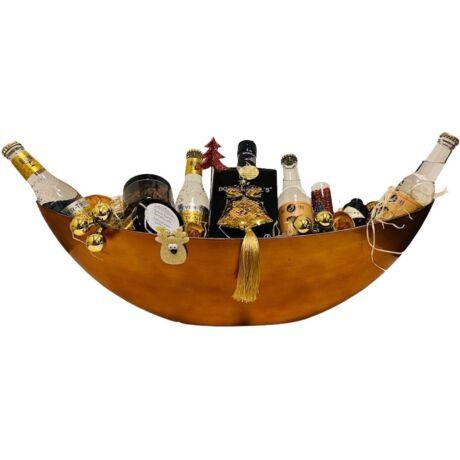 Karácsonyi Botanicals Gin Ajándék csomag arany ovális dísztálban