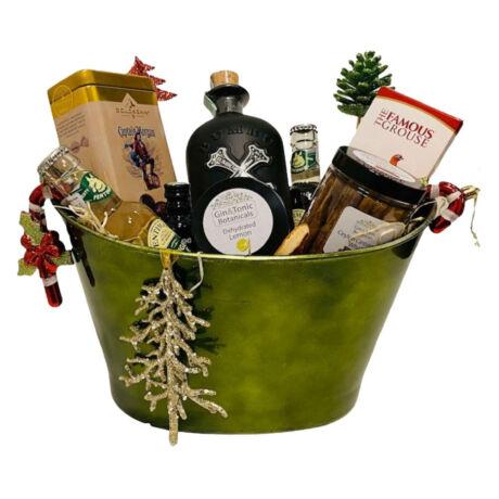 Karácsonyi Bumbu Xo Rumos Ajándék csomag Zöld Dísztálban