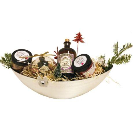 Karácsonyi Delux Monkey Gin Tonik Szett Hendricks Karácsonyfa dísszel