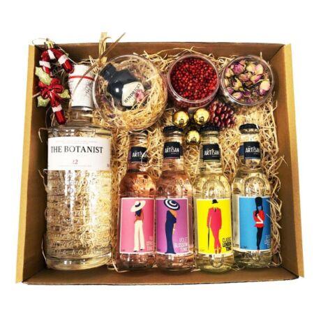 Karácsonyi Delux Botanist Gin Tonik Szett Ginfűszerrel és Hendricks karácsonyfa gömbbel