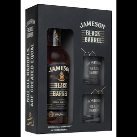 Jameson Black Barrel 0,7L 40% pdd. + 2 pohár