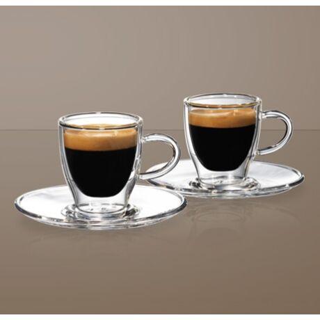 Thermo duplafalú Enjoy Espresso pohár 80 ml & tányér