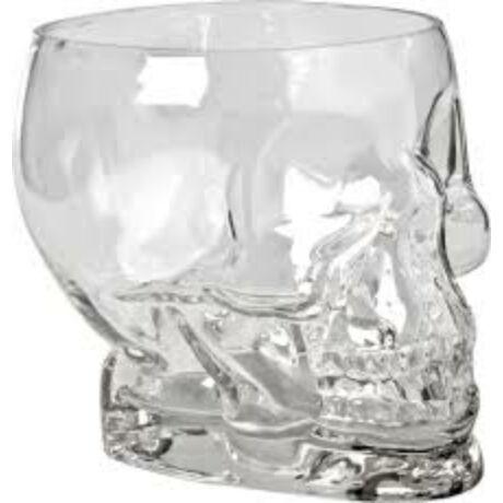 Tiki Skull üveg koktélos pohár 700 ml.