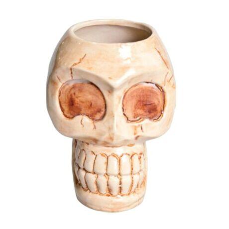 Tiki Kerámia Skull koktélos pohár 880 ml.