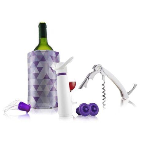 Vacu Vin Essentials boros szett fehér