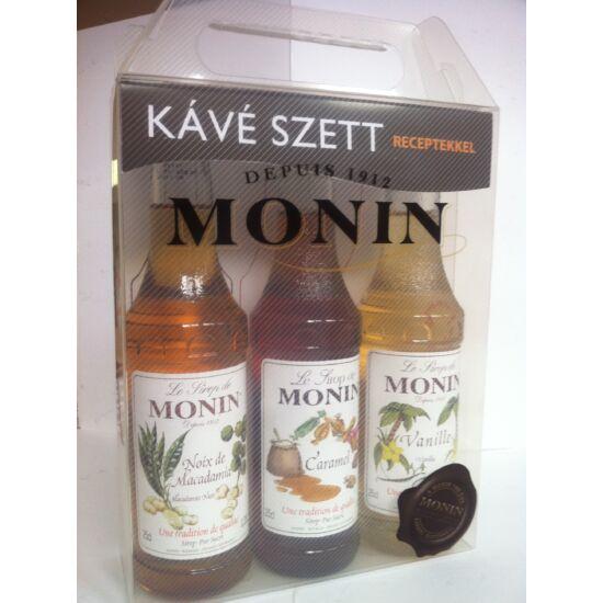Monin Kávé Szett díszdobozban 3X250ml