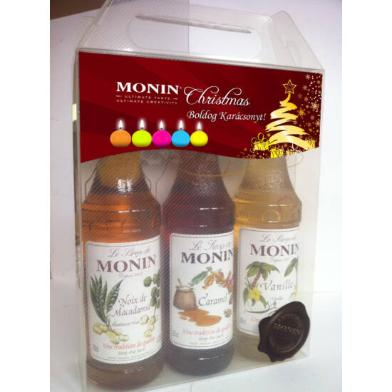 Monin Karácsonyi Kávé Szett díszdobozban 3X250ml