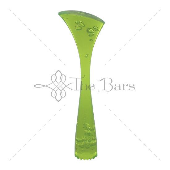 Polikarbonát muddler 23cm neon zöld