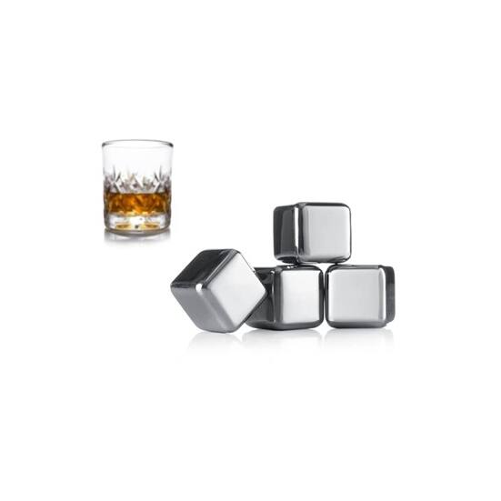 Vacu Vin hűtő fémkocka whisky 4db