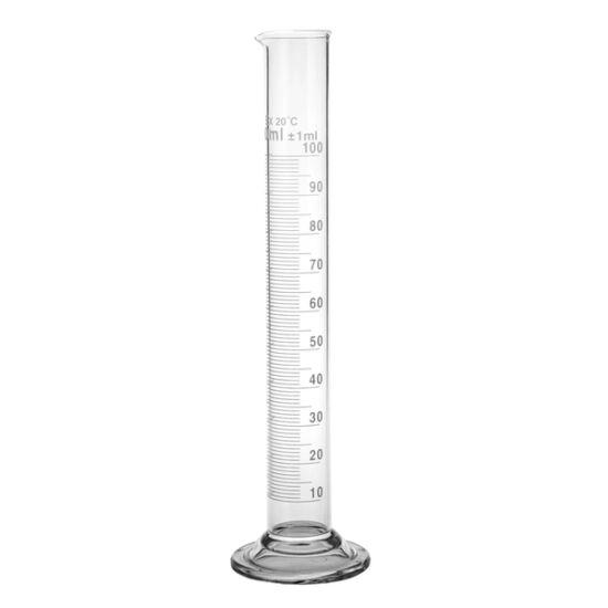 Üveg italmérő henger 100ml